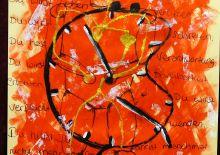 Geknautsches Ziffernblatt einer Uhr