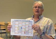 Rainer Holt zeigt Jahresplan