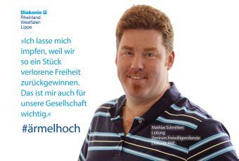 """Mathias Schmitten: """"Ich lasse mich impfen, weil wir so ein Stück verlorene Freiheit zurückgewinnen"""""""