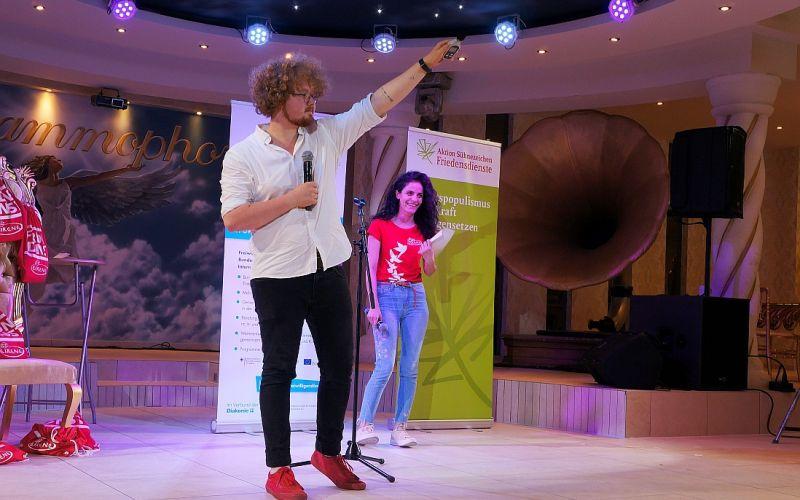 Dezibelmessung beim Poetry Slam